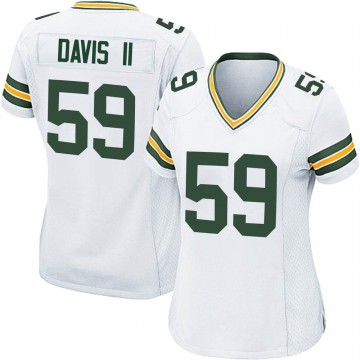 Women's Nike Green Bay Packers Jamal Davis II White Jersey - Game