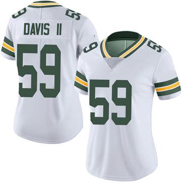 Women's Nike Green Bay Packers Jamal Davis II White Vapor Untouchable Jersey - Limited