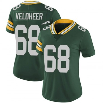 Women's Nike Green Bay Packers Jared Veldheer Green Team Color Vapor Untouchable Jersey - Limited