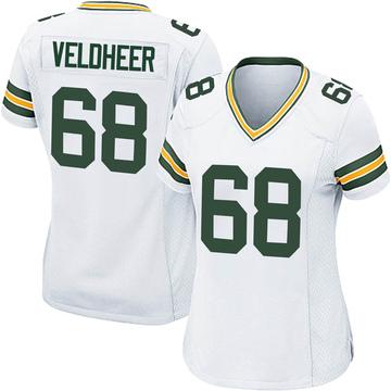 Women's Nike Green Bay Packers Jared Veldheer White Jersey - Game