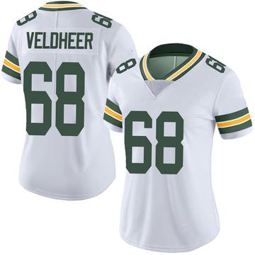 Women's Nike Green Bay Packers Jared Veldheer White Vapor Untouchable Jersey - Limited