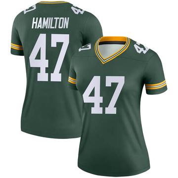 Women's Nike Green Bay Packers Javien Hamilton Green Jersey - Legend
