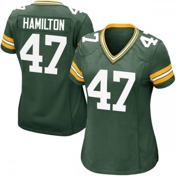 Women's Nike Green Bay Packers Javien Hamilton Green Team Color Jersey - Game