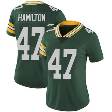 Women's Nike Green Bay Packers Javien Hamilton Green Team Color Vapor Untouchable Jersey - Limited