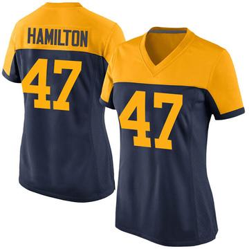 Women's Nike Green Bay Packers Javien Hamilton Navy Alternate Jersey - Game