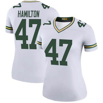 Women's Nike Green Bay Packers Javien Hamilton White Color Rush Jersey - Legend
