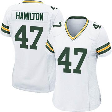 Women's Nike Green Bay Packers Javien Hamilton White Jersey - Game