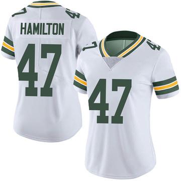 Women's Nike Green Bay Packers Javien Hamilton White Vapor Untouchable Jersey - Limited