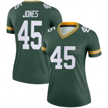 Women's Nike Green Bay Packers Jordan Jones Green Jersey - Legend