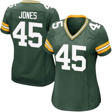 Women's Nike Green Bay Packers Jordan Jones Green Team Color Jersey - Game