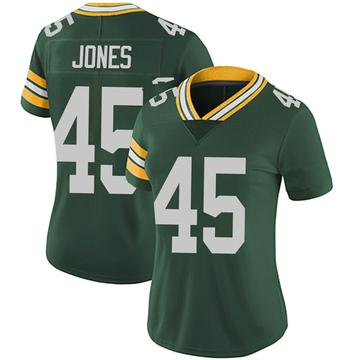 Women's Nike Green Bay Packers Jordan Jones Green Team Color Vapor Untouchable Jersey - Limited