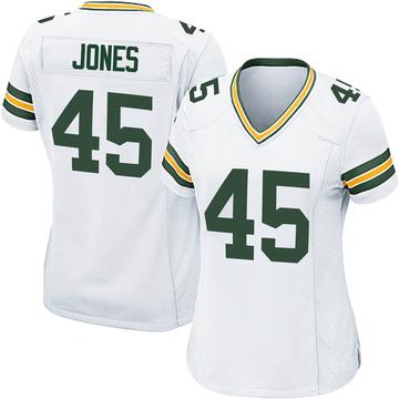 Women's Nike Green Bay Packers Jordan Jones White Jersey - Game