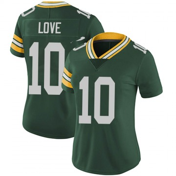 Women's Nike Green Bay Packers Jordan Love Green Team Color Vapor Untouchable Jersey - Limited