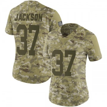 Women's Nike Green Bay Packers Josh Jackson Camo 2018 Salute to Service Jersey - Limited