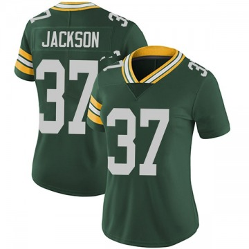 Women's Nike Green Bay Packers Josh Jackson Green Team Color Vapor Untouchable Jersey - Limited