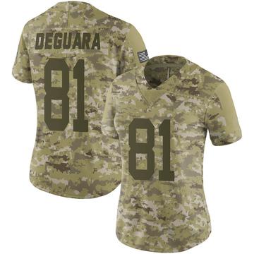 Women's Nike Green Bay Packers Josiah Deguara Camo 2018 Salute to Service Jersey - Limited