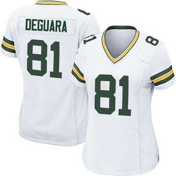 Women's Nike Green Bay Packers Josiah Deguara White Jersey - Game