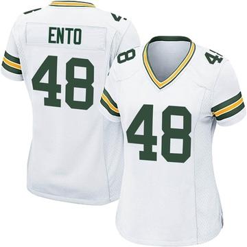 Women's Nike Green Bay Packers Kabion Ento White Jersey - Game