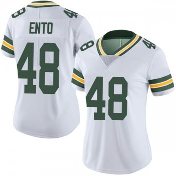 Women's Nike Green Bay Packers Kabion Ento White Vapor Untouchable Jersey - Limited