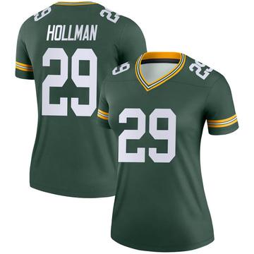 Women's Nike Green Bay Packers Ka'dar Hollman Green Jersey - Legend