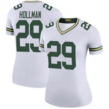 Women's Nike Green Bay Packers Ka'dar Hollman White Color Rush Jersey - Legend