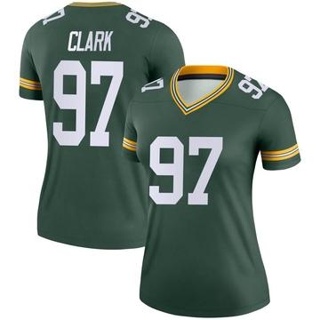 Women's Nike Green Bay Packers Kenny Clark Green Jersey - Legend