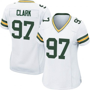 Women's Nike Green Bay Packers Kenny Clark White Jersey - Game