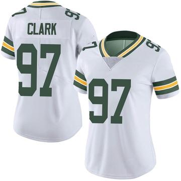 Women's Nike Green Bay Packers Kenny Clark White Vapor Untouchable Jersey - Limited