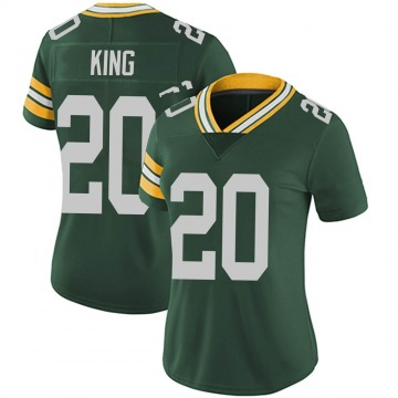 Women's Nike Green Bay Packers Kevin King Green Team Color Vapor Untouchable Jersey - Limited