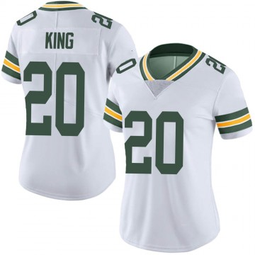 Women's Nike Green Bay Packers Kevin King White Vapor Untouchable Jersey - Limited