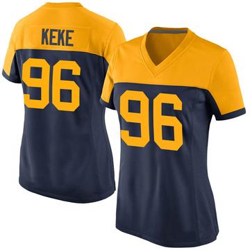 Women's Nike Green Bay Packers Kingsley Keke Navy Alternate Jersey - Game