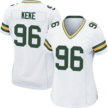 Women's Nike Green Bay Packers Kingsley Keke White Jersey - Game