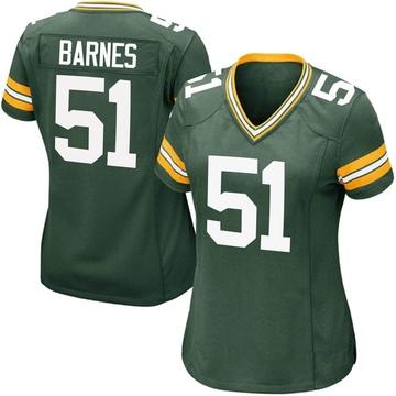 Women's Nike Green Bay Packers Krys Barnes Green Team Color Jersey - Game