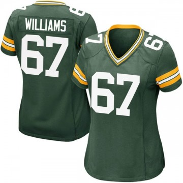 Women's Nike Green Bay Packers Larry Williams Green Team Color Jersey - Game