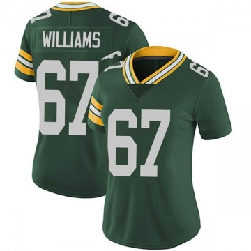 Women's Nike Green Bay Packers Larry Williams Green Team Color Vapor Untouchable Jersey - Limited
