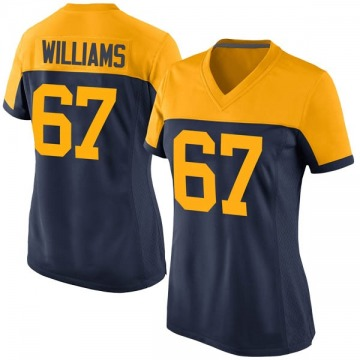 Women's Nike Green Bay Packers Larry Williams Navy Alternate Jersey - Game