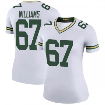 Women's Nike Green Bay Packers Larry Williams White Color Rush Jersey - Legend