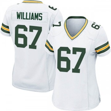 Women's Nike Green Bay Packers Larry Williams White Jersey - Game