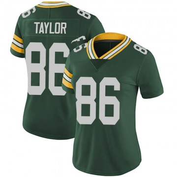 Women's Nike Green Bay Packers Malik Taylor Green Team Color Vapor Untouchable Jersey - Limited