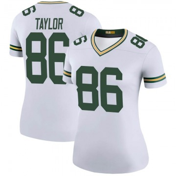 Women's Nike Green Bay Packers Malik Taylor White Color Rush Jersey - Legend