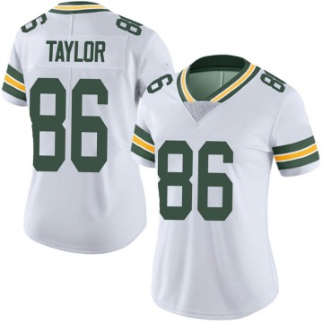 Women's Nike Green Bay Packers Malik Taylor White Vapor Untouchable Jersey - Limited