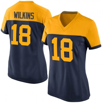Women's Nike Green Bay Packers Manny Wilkins Navy Alternate Jersey - Game