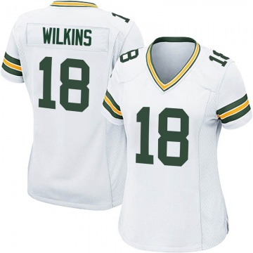 Women's Nike Green Bay Packers Manny Wilkins White Jersey - Game