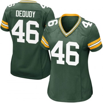 Women's Nike Green Bay Packers Marc-Antoine Dequoy Green Team Color Jersey - Game