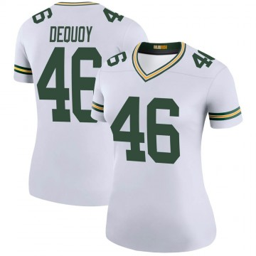 Women's Nike Green Bay Packers Marc-Antoine Dequoy White Color Rush Jersey - Legend