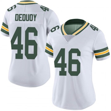 Women's Nike Green Bay Packers Marc-Antoine Dequoy White Vapor Untouchable Jersey - Limited