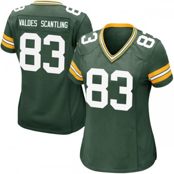Women's Nike Green Bay Packers Marquez Valdes-Scantling Green Team Color Jersey - Game