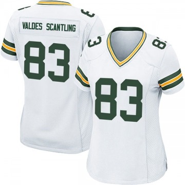 Women's Nike Green Bay Packers Marquez Valdes-Scantling White Jersey - Game