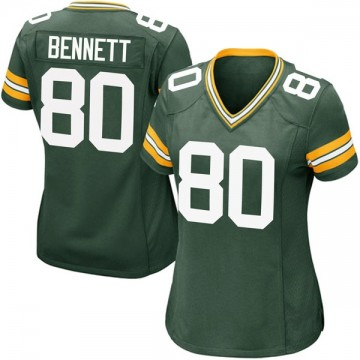 Women's Nike Green Bay Packers Martellus Bennett Green Team Color Jersey - Game