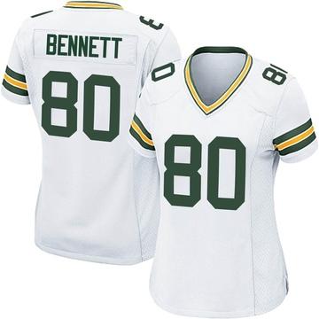 Women's Nike Green Bay Packers Martellus Bennett White Jersey - Game